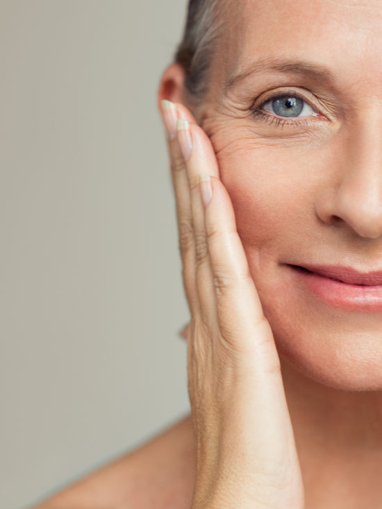 Anti Aging face of woman